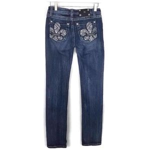 ⬇️MISS ME Girl's Fleur de Lis Skinny Jeans Size 16